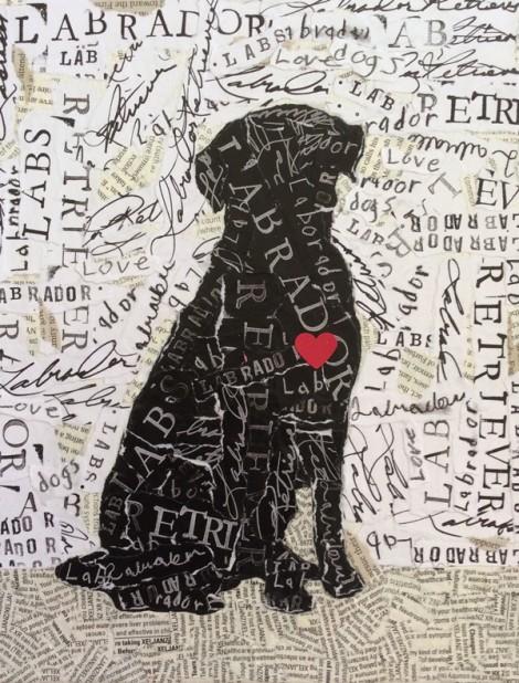 Labrador Retriever Sihlouette w Heart